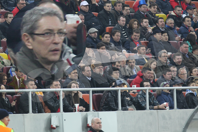 Andrei Zaharescu a privit meciul Stelei cu maxima atentie