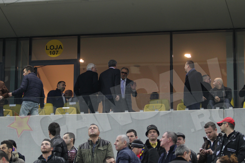Ion Tiriac, alaturi de Victor Becali pe National Arena