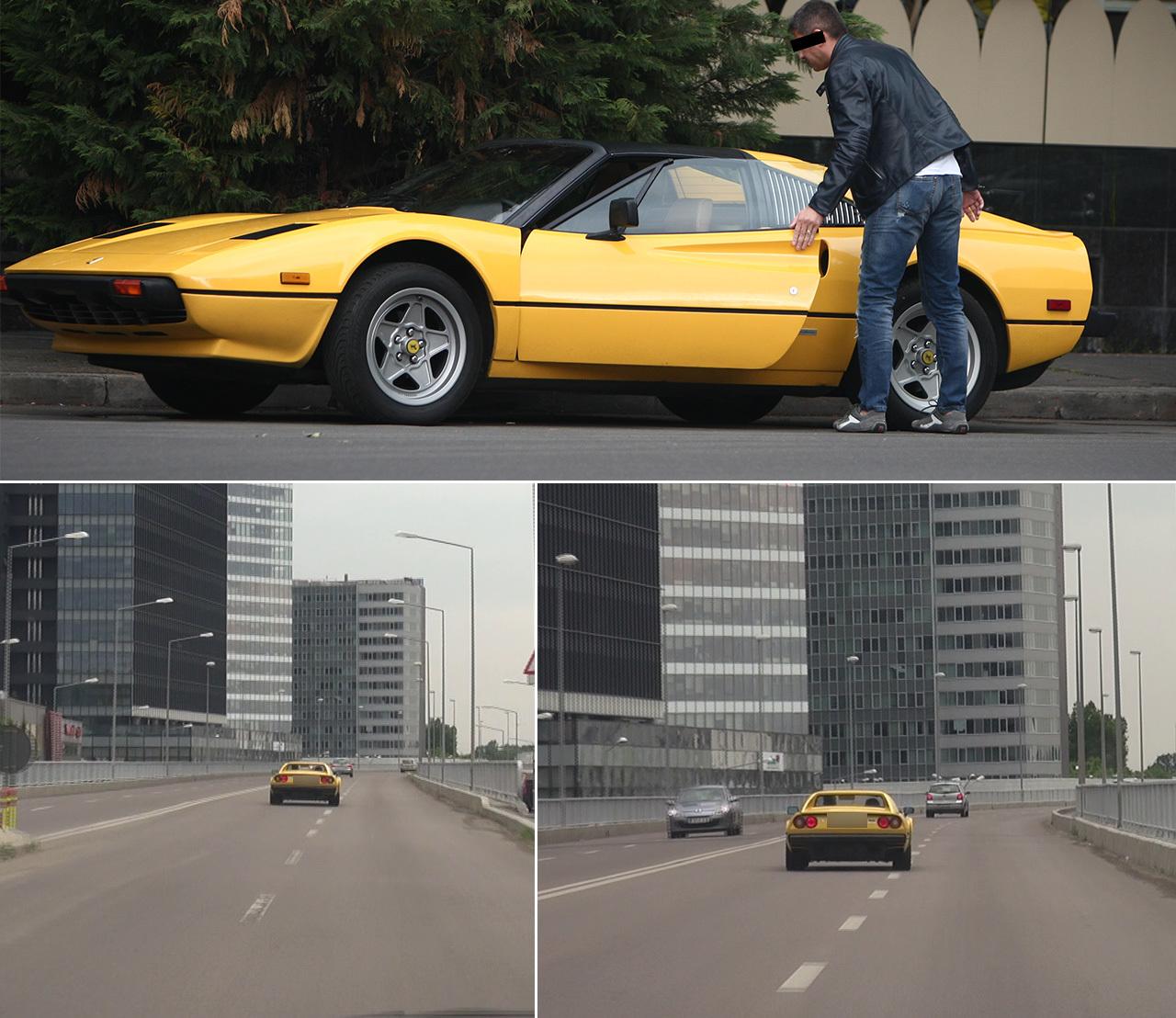 """Celebrul avocat îşi """"testează"""" prin oraş Ferrariul de colecţie: acul vitezometrului a atins la un moment dat 180 km/h"""