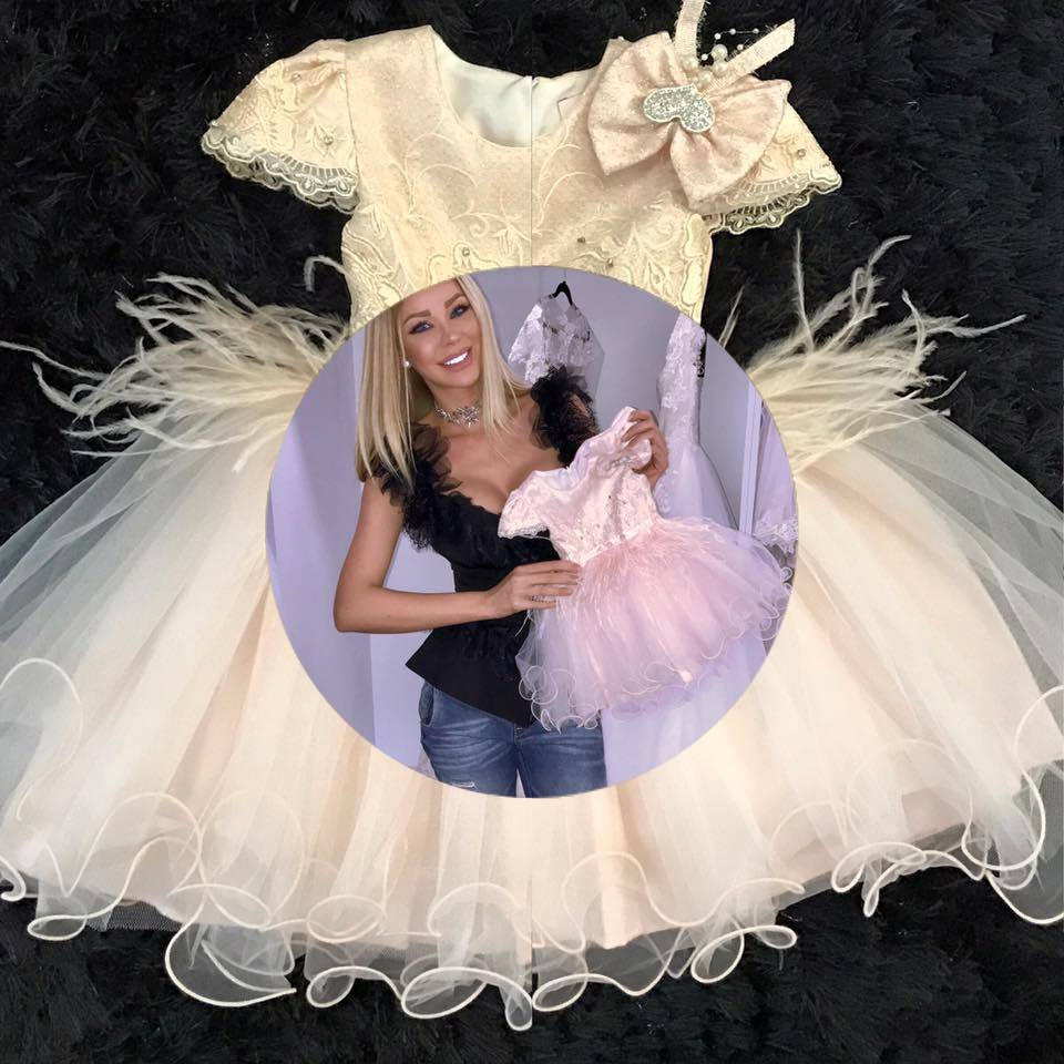Bianca Drăguşanu va lansa o colecţie de rochiţe inspirată de fiica ei