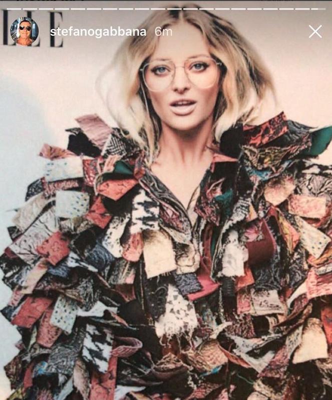 Stefano Gabbana a publicat pe contul său o fotografie cu Delia într-o ţinută Dolce & Gabbana