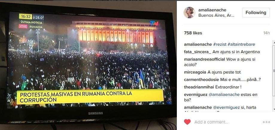 Amalia Enache le-a arătat tuturor prietenilor de pe Instagram această imagine