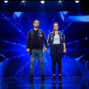 ROMÂNII AU TALENT 2018. Soții români care cântă la metroul din Paris au venit în emisiune! Gestul emoționant al Andrei
