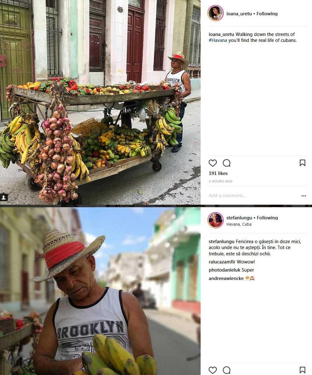 Ștefan Lungu și Ioana Uretu au postat aproape aceleași fotografii pe Instagram