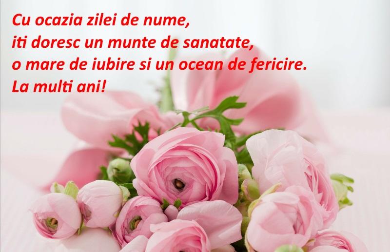 Felicitare cu trandafiri roz, de Sfintii Constantin și Elena