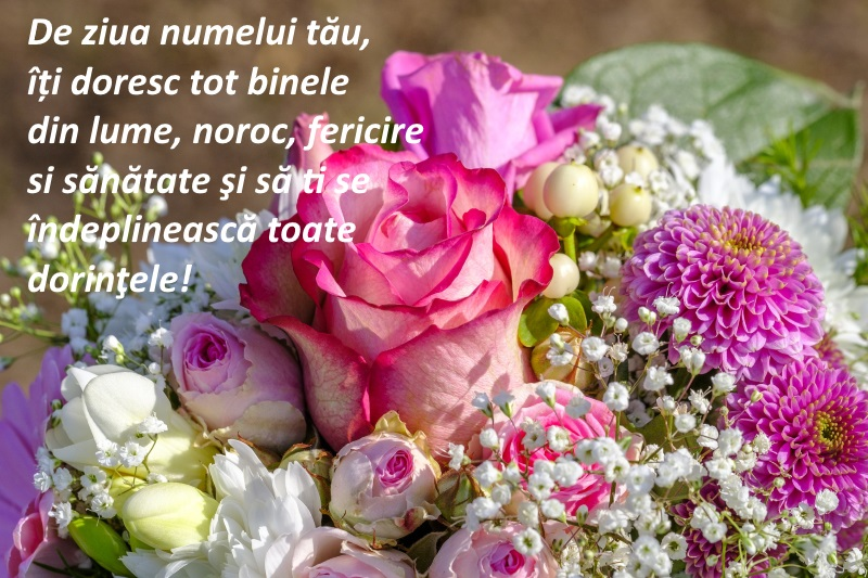 Felicitare cu trandafiri multicolori, de Sfintii Constantin și Elena