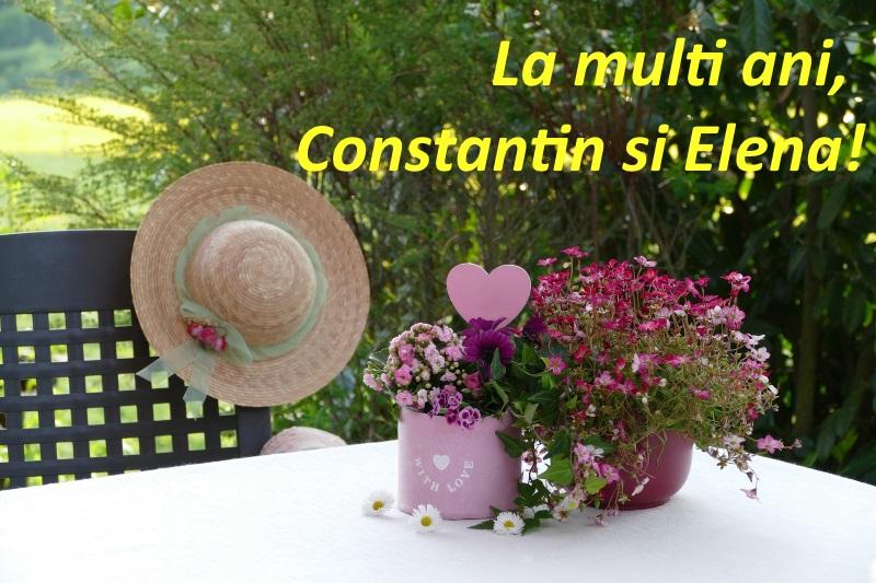 Felicitare cu La multi ani!, de Sfintii Constantin și Elena