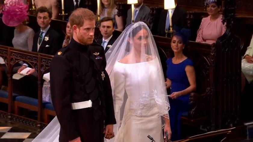 Prințul Harry și Meghan Markle, în fața altarului