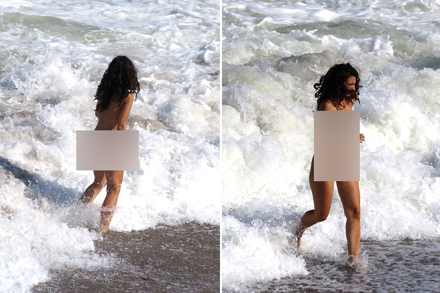 """SCANDALOS! Nudiștii au """"invadat"""" o plajă din România și își expun goliciunea în fața copiilor"""