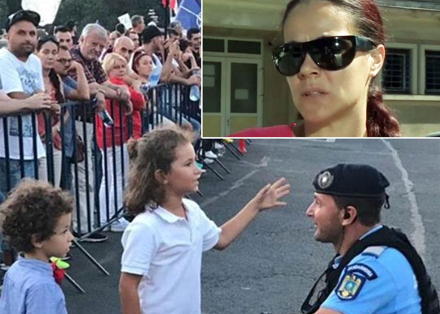 Adevărul din spatele pozei postate de Jandarmeria Română pe Facebook! Ce i-au spus copiii jandarmului