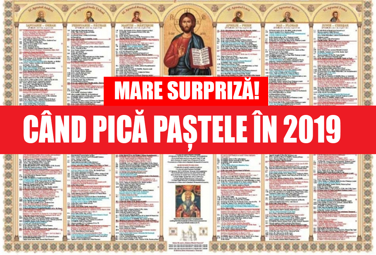 Calendar Crestin Ortodox.Paste 2019 Cand Pică Pastele Anul Viitor A Fost Aprobat Cel Mai