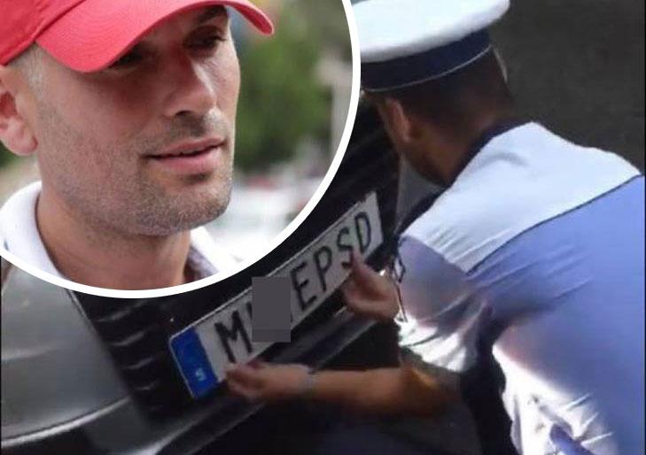 Șoferul cu mesajul anti PSD lovește din nou! Și-a schimbat numerele de înmaticulare, iar acum are un nou mesaj