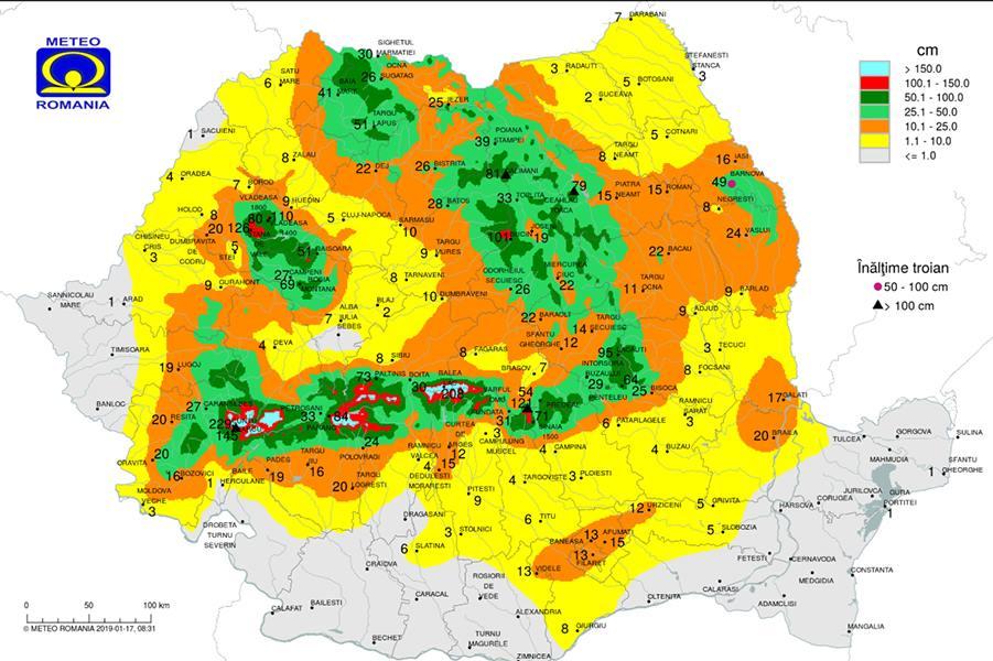 Vremea o ia razna în România! ANM anunță temperaturi ciudate în perioada 17 ianuarie - 11 februarie