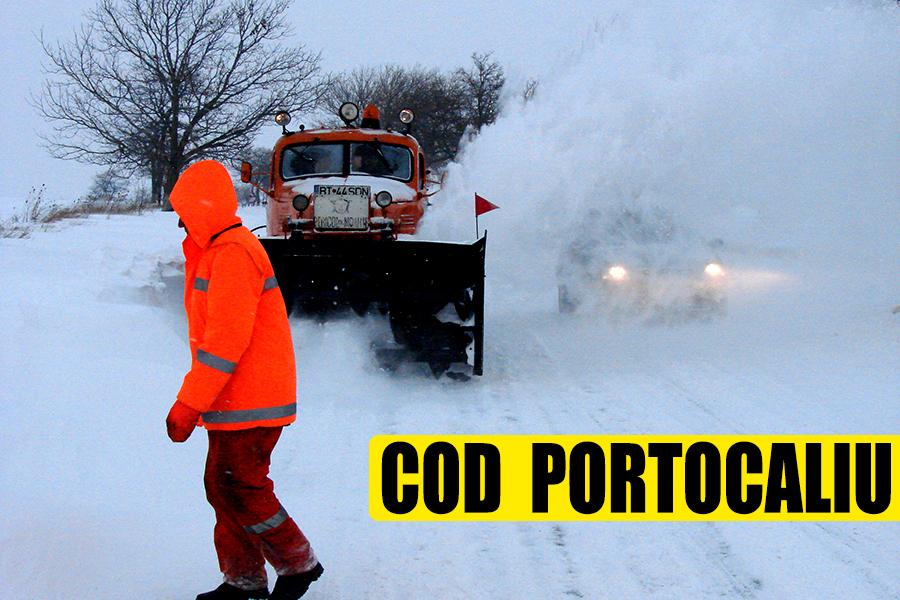 Cod portocaliu de ninsoare! Guvernul îi sfătuiește pe români să evite călătoriile