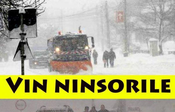 Val de aer polar peste România! Se întorc ninsorile chiar de săptămâna asta! Zonele afectate