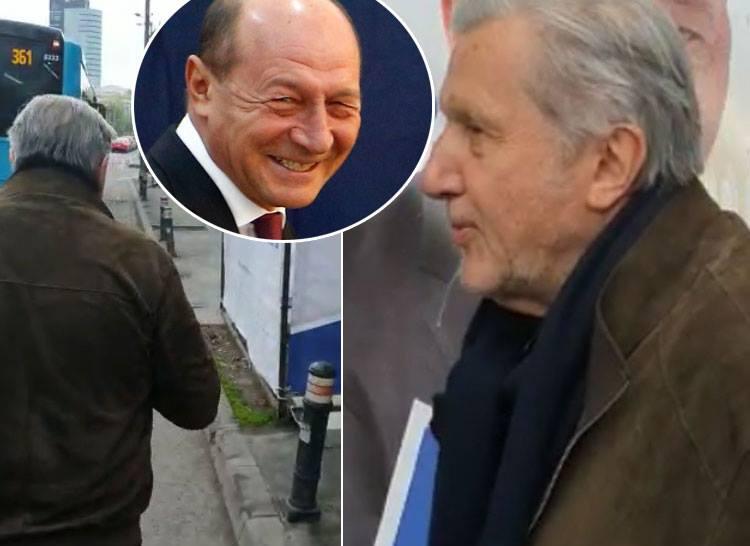 VIDEO. Momentul in care Ilie Nastase ii arunca lui Traian Basescu o cafea fierbinte in fata
