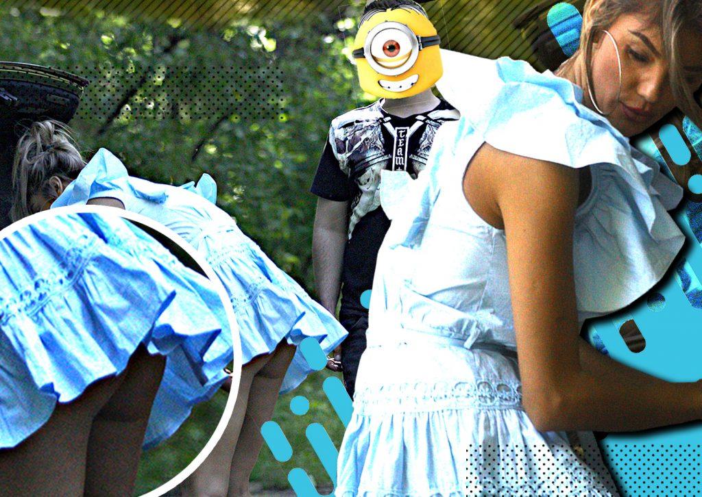 """""""Minionul"""" pervers i-a ridicat fustița în parc asistentei de la Neatza! Sunt imaginile anului!"""