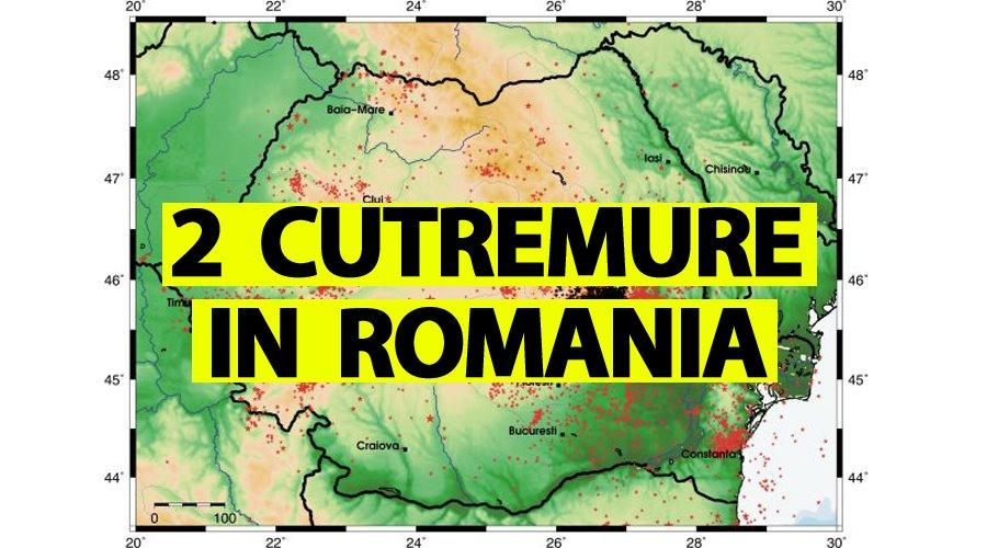 Au fost două cutremure mari în România, azi-noapte, la ora 3:39 și 5:38. Anunțul făcut de autorități