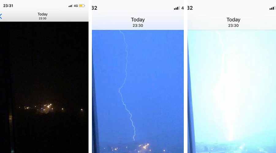 Fenomen meteo cutremurător în Iași filmat azi-noapte, la ora 23:31. Imagini surprinse la interval de câteva secunde