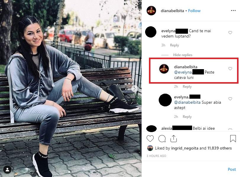 """Diana Belbiță, una dintre fostele concurente de la """"Ferma. Un nou început"""". Sursa foto: Instagram"""