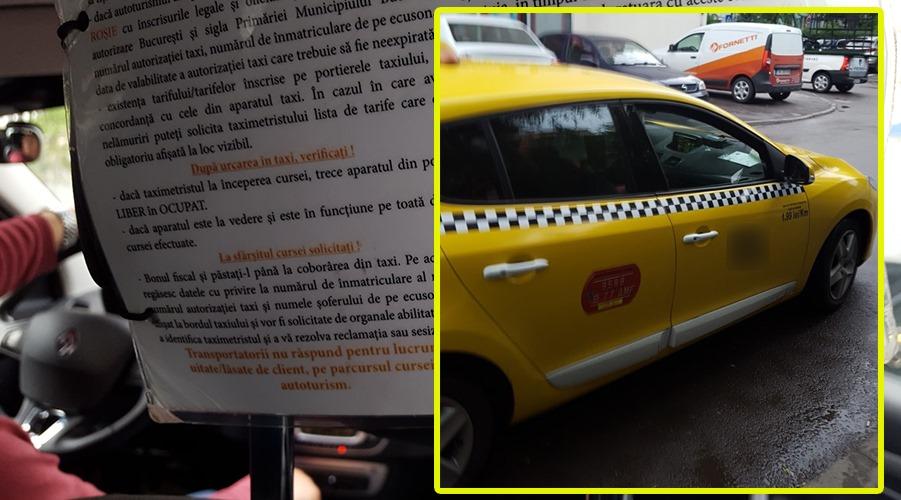 """""""Io mă retrag, doamnă""""! Cum a fost umilit un taximetrist din București de o clientă"""