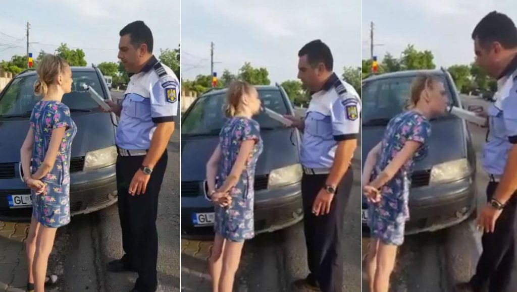 Gestul făcut de această femeie din Galați după ce a fost pusă să sufle în alcooltest. VIDEO VIRAL