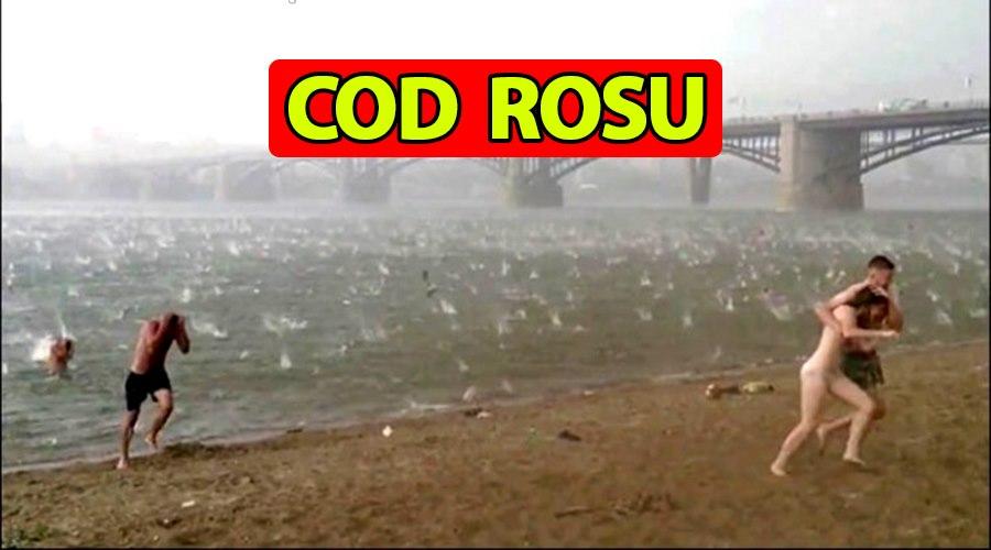 """ANM, cod roșu în România! Cuvintele pe care nu voiam să le auzim niciodată: """"Furtună cu grindină de mari dimensiuni"""""""