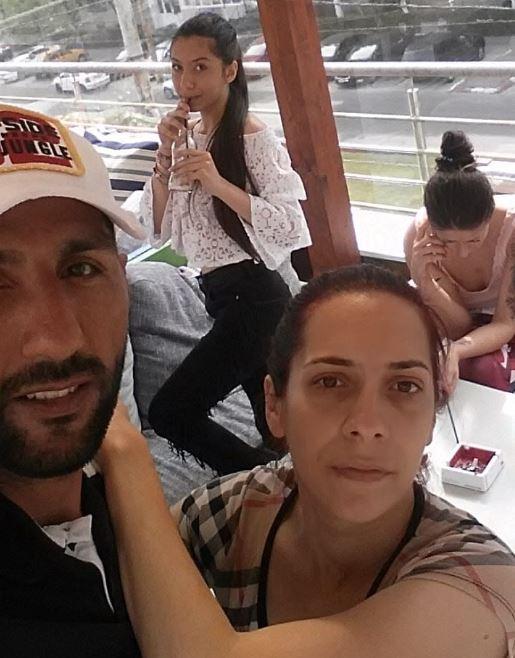 Marian Tamango, alături de soția sa