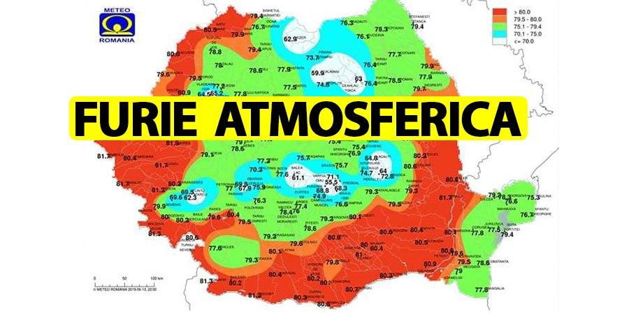 ANM, stare de alertă meteo în România. Urmează 3 ore de furie atmosferică