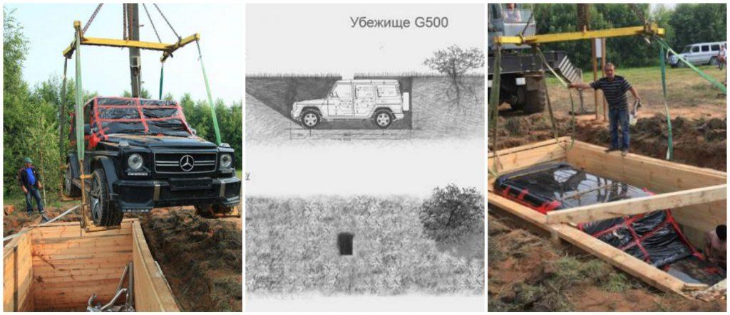 Au descoperit un Mercedes-Benz G-Class îngropat în pământ în Rusia la cererea artistului rus Valeri Lizunova.