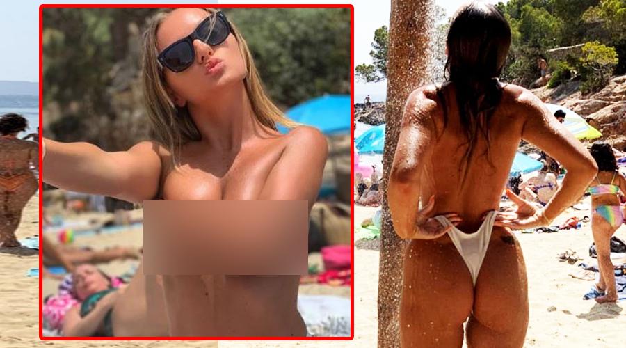 Alexandra Stan, la nudiștii! A băut bere și și-a dat jos sutienul de față cu toată lumea