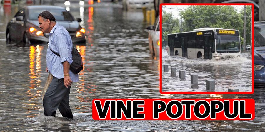 ANM anunță că vine potopul în România! Durează 61 de ore și pericolul este maxim