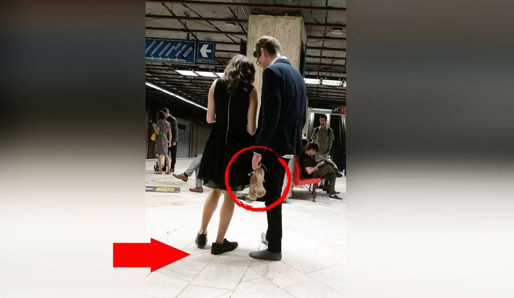 Tânărul care a fost fotografiat desculț la metroul din București a fost găsit. Cum explică Mihai gestul său
