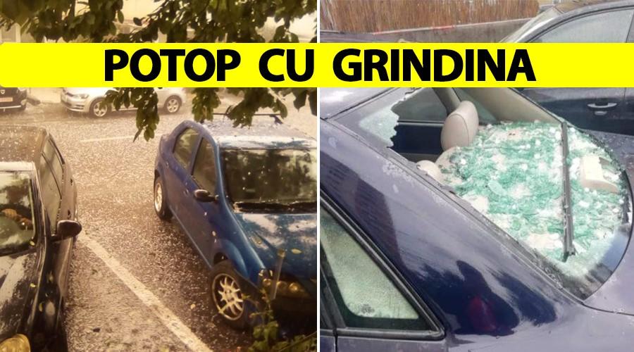 ANM, avertizare emisă luni dimineață. Potop cu grindină în România