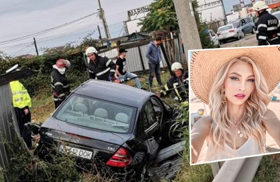 Andreea Bălan, strigăt disperat de ajutor după un accident rutier cumplit. Mercedes-ul s-a făcut praf