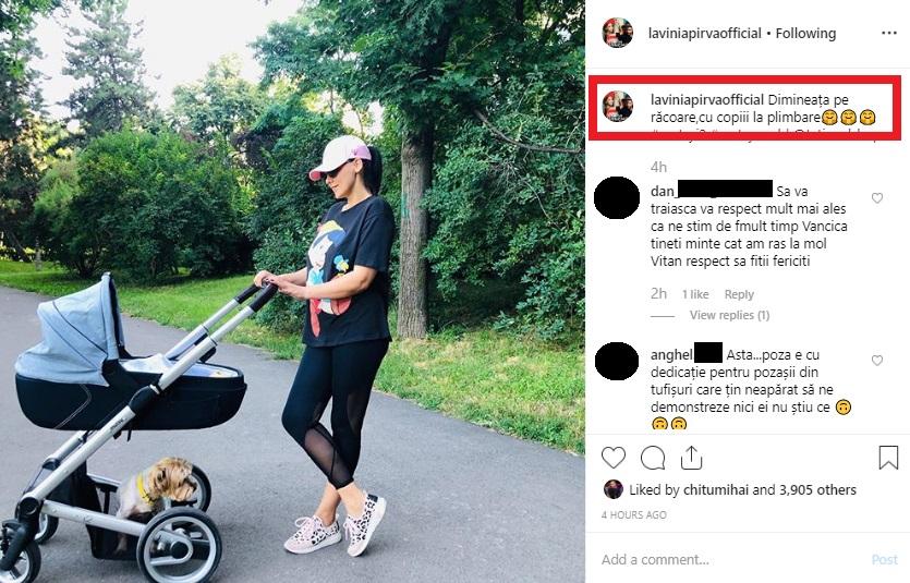 Lavinia Pîrva a devenit mămică pentru prima dată în primăvara acestui an. Sursa foto: Instagram