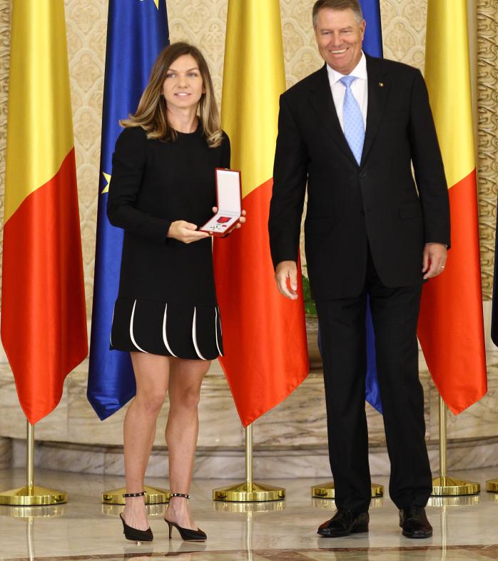Simona Halep, alături de președintele României