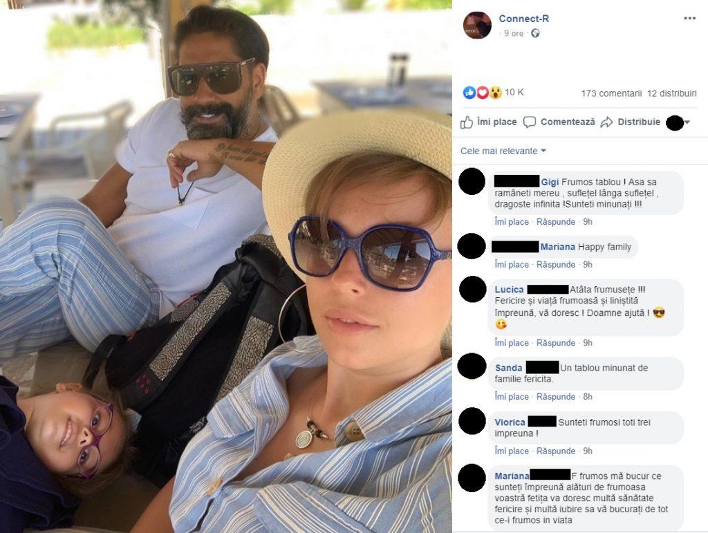 Connect-R, Misha și fiica lor, în vacanță în Grecia © Facebook