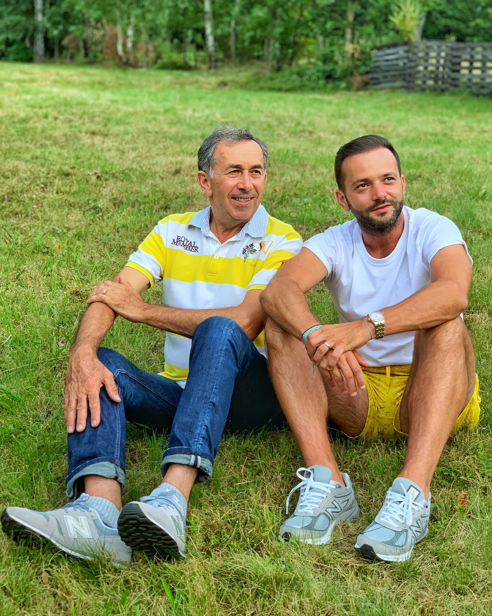 Mihai Morar, alături de tatăl său