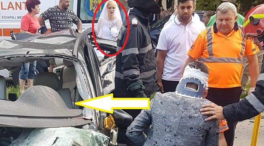 Blestem chiar în ziua nunții! Aflat într-un BMW, un mire a provocat un accident înfiorător în Reșița, după ceremonie