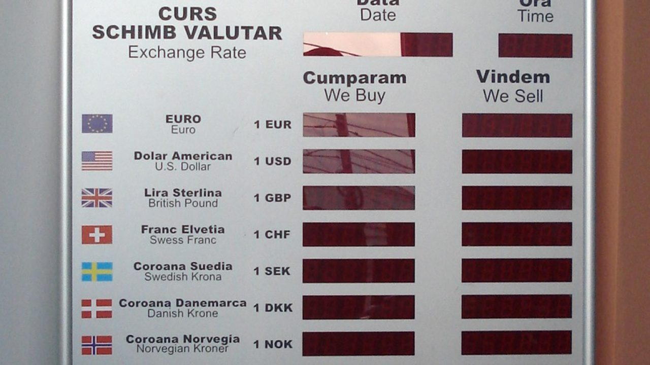 rata de schimb valutar gbp)