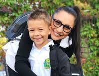 Andra si David, in prima zi de scoala