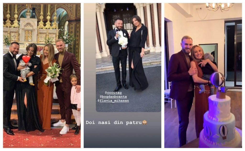 Flavia Mihășan și Marius Moldovan și-au botezat fiul. Micuțul Carol a avut două perechi de nași, iar una dintre acestea este formată din Andra Gheorghe și Bogdan Boantă © Instagram Stories