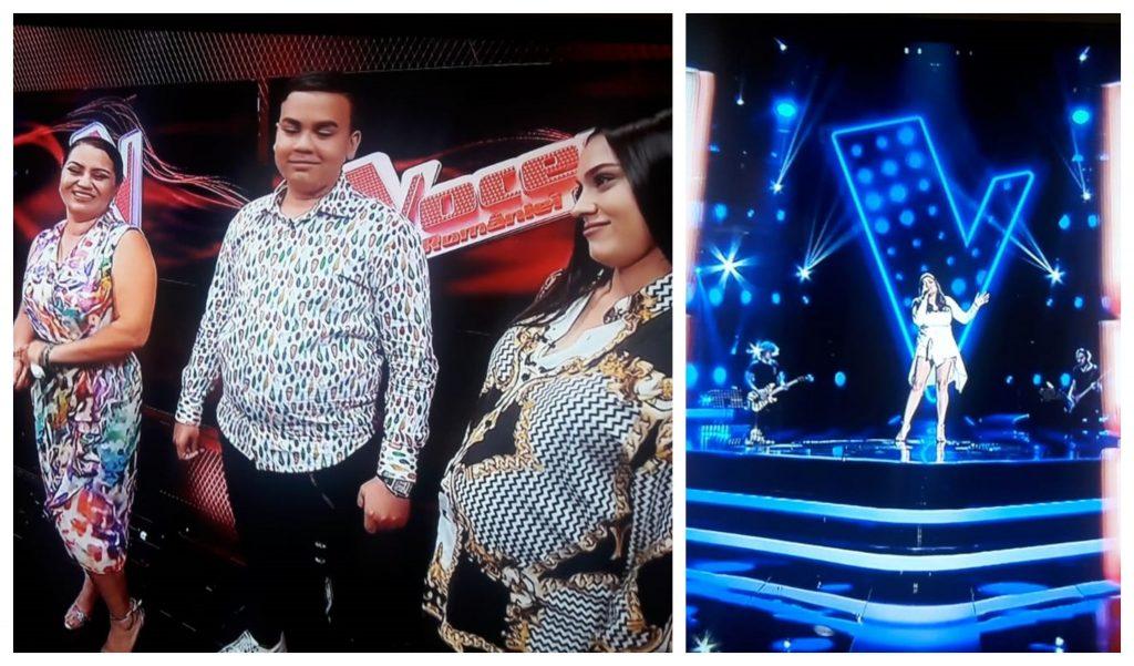 """Carmen Minune era însărcinată în luna a opta când sora ei, Adriana Simionescu, a fost la audițiile pe nevăzute de la """"Vocea României"""" © Pro TV"""
