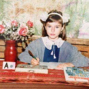 Laura Cosooi in prima zi de scoala