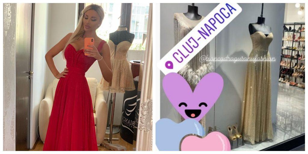 Bianca Drăgușanu a făcut publică poza din dreapta colajului azi-noapte, în jurul orei 02:00 © Instagram Stories