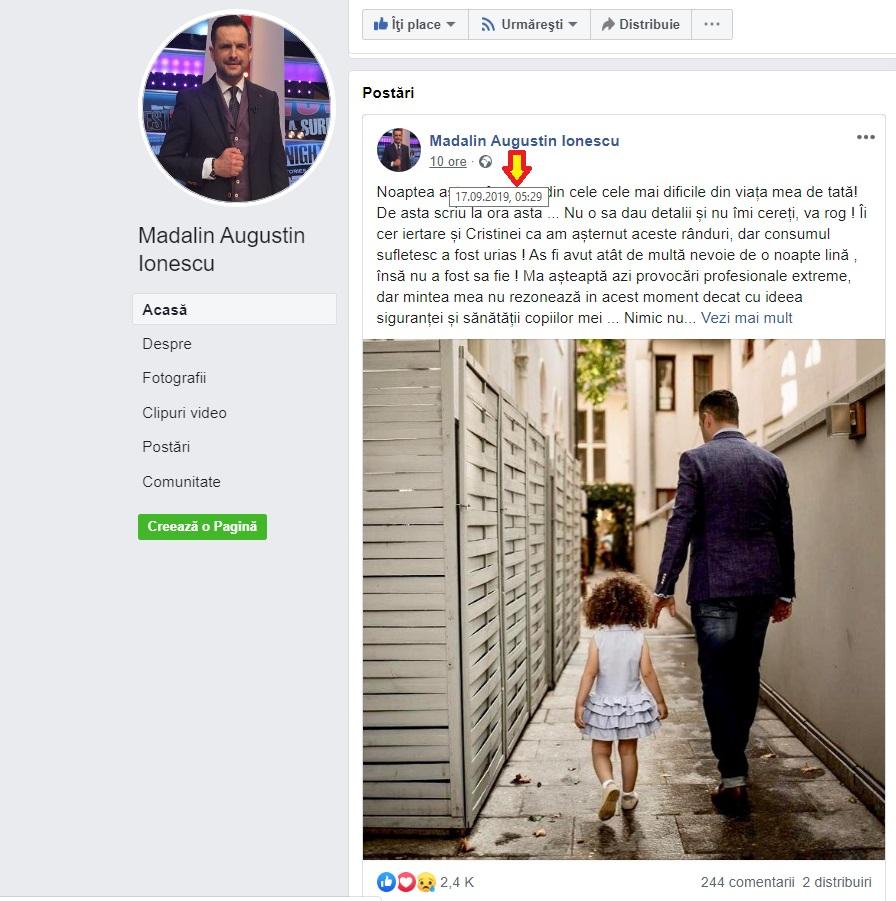 Mădălin Ionescu și Cristina Șișcanu au o fetiță împreună © Facebook