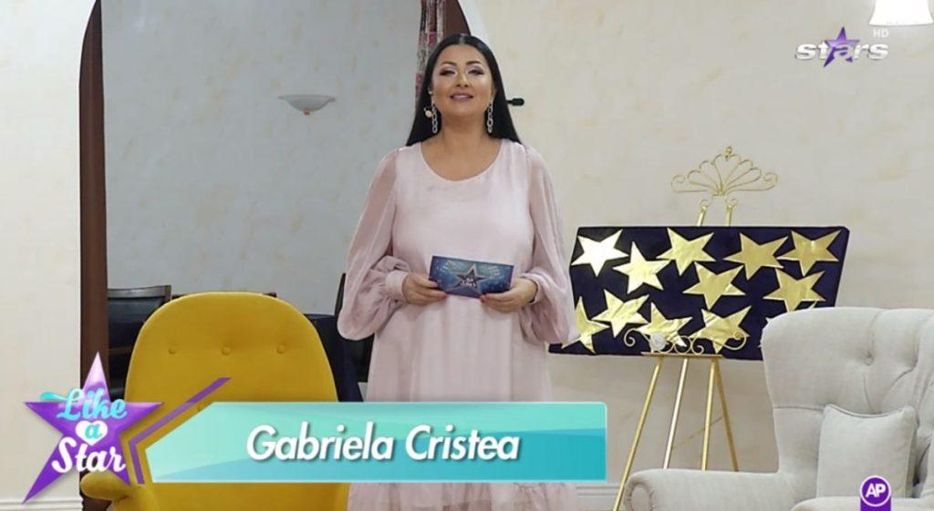 """Gabriela Cristea, într-o rochie sexy la premiera emisiunii """"Like a star"""" © captură Antena Stars"""