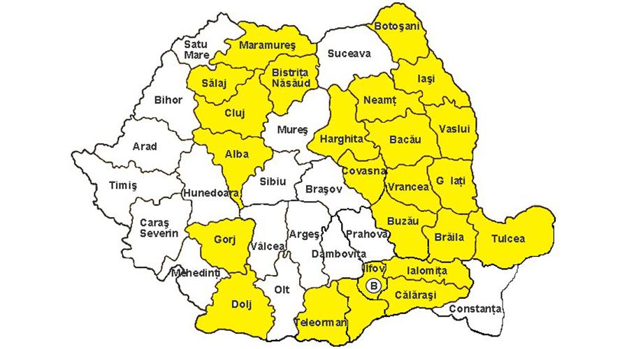 ANM, avertizare de vreme severă imediată în România. Oamenii sunt sfătuiți să evite aceste zone