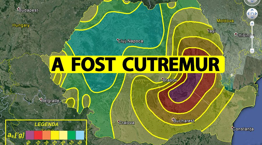 Cutremur în zona Vrancea! România s-a zguduit azi-noapte, la ora 1:15